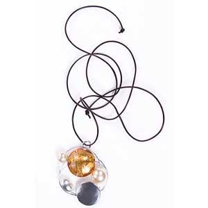 Pandantiv galben cu perla Galileo 1624
