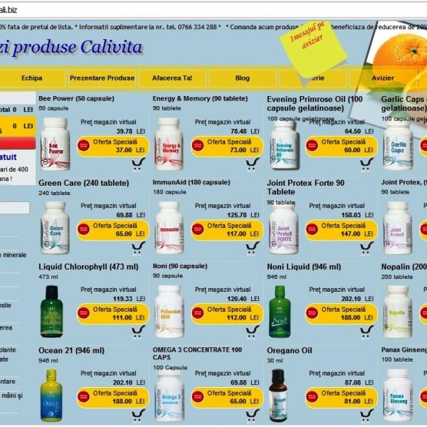 Comenzi produse naturiste CALVITA | Noni Organic